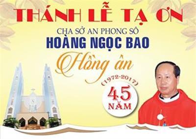 Giáo xứ bắc Hà: Kỷ niệm 45 năm linh mục cha sở Anphongsô Hoàng Ngọc Bao