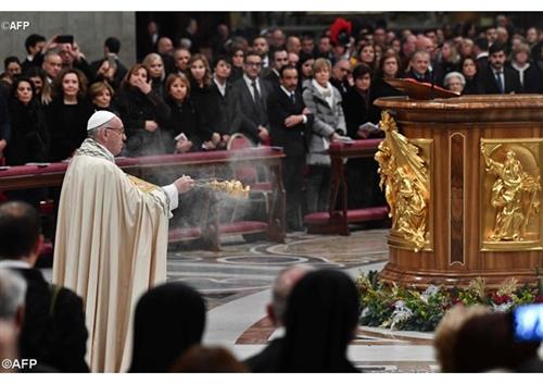 Đức Thánh Cha chủ sự Kinh Chiều I - Lễ Mẹ Thiên Chúa