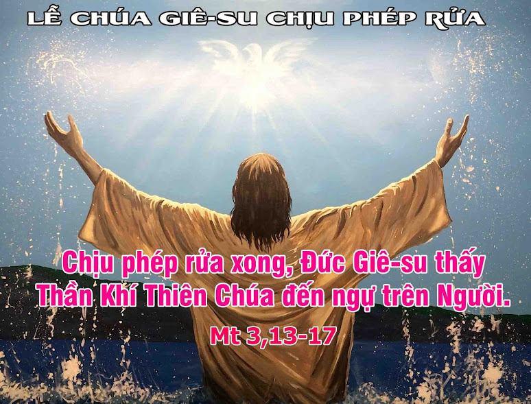 Thánh lễ Chúa Nhật kính Chúa Giêsu chịu phép rửa C