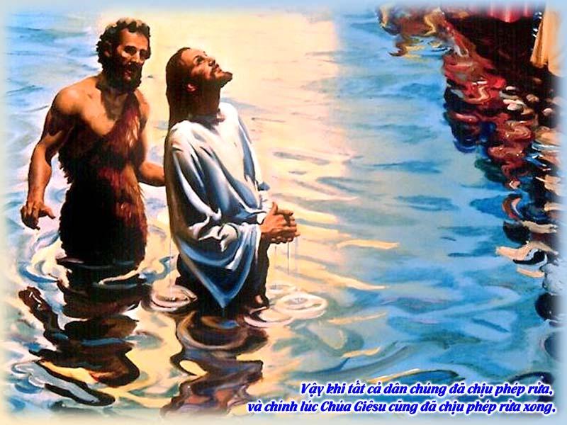 ĐỨC GIÊSU CHỊU PHÉP RỬA