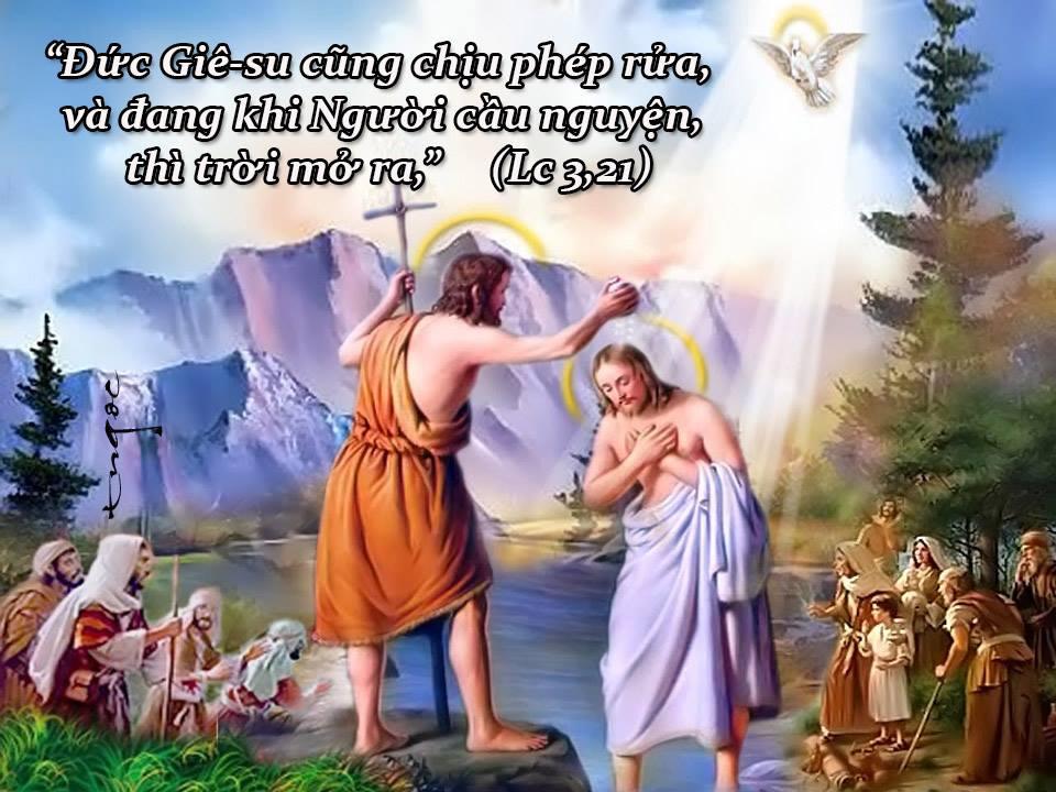Bài Giảng Lễ Chúa Giêsu chịu phép rửa