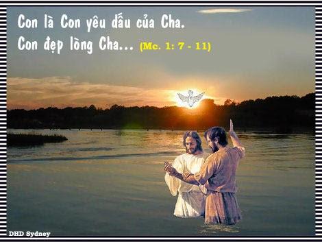 Bài Giảng Lễ Chúa Giêsu chịp phép rửa